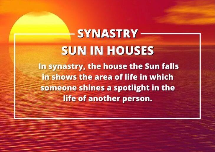 mặt trời trong bản đồ sao cặp đôi Synastry